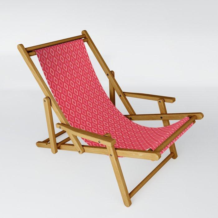 coral diamonds folding chair