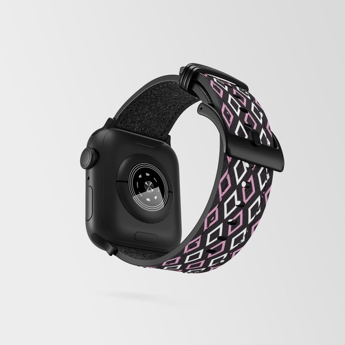 black pink diamonds watch strap