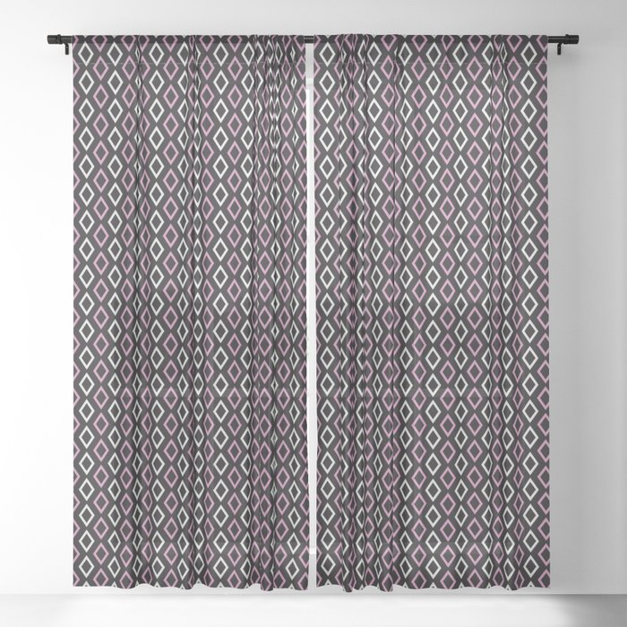 black pink diamonds curtains