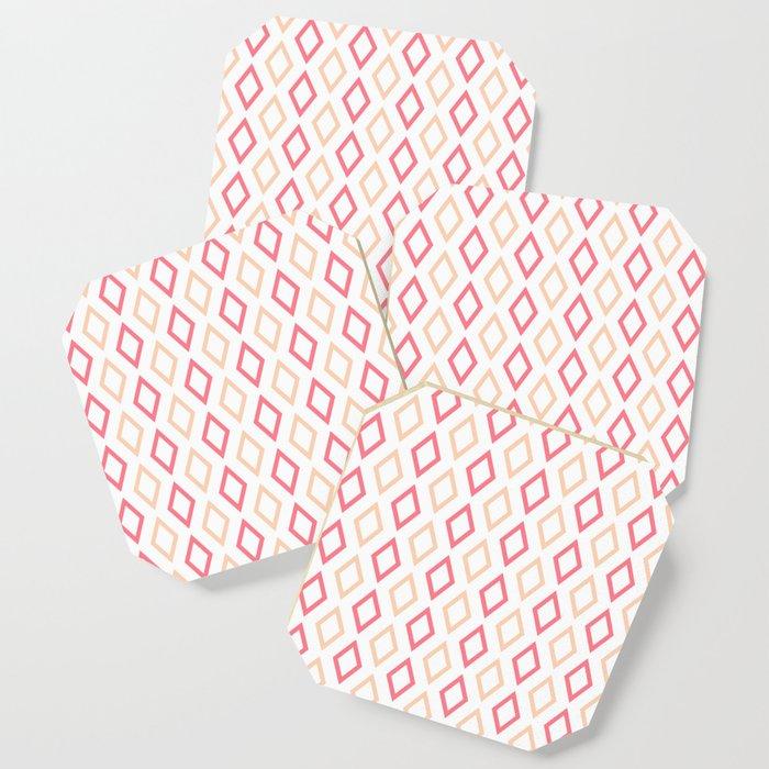 Pink-white Diamonds coasrters