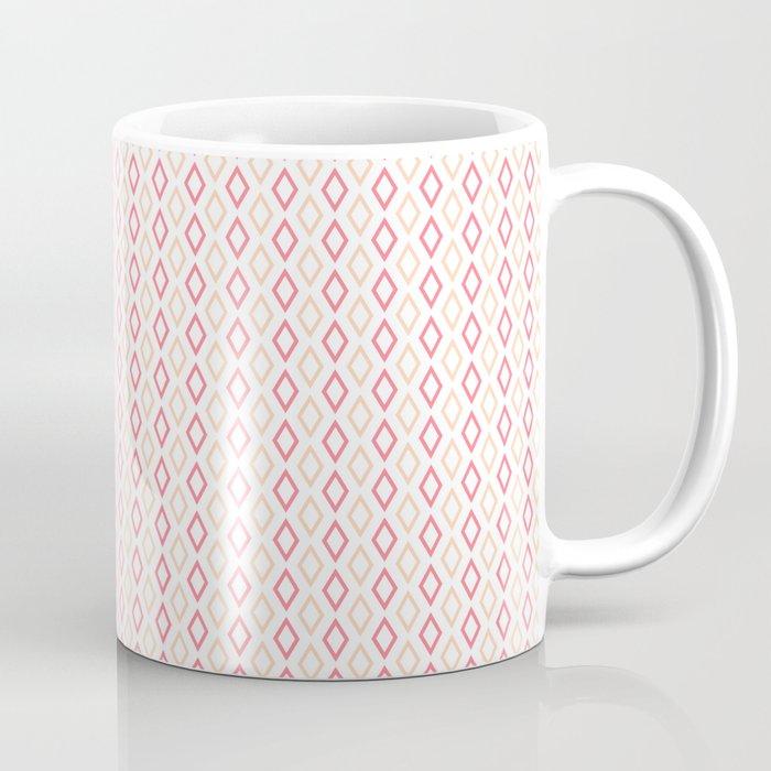 Pink-white Diamonds mug
