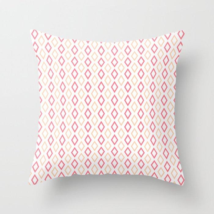 Pink-white Diamonds pillow