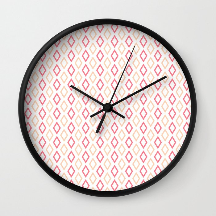 Pink-white Diamonds clock