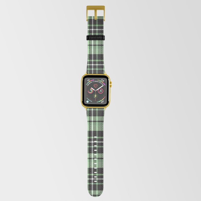 Mint-Green Plaid apple watch strap