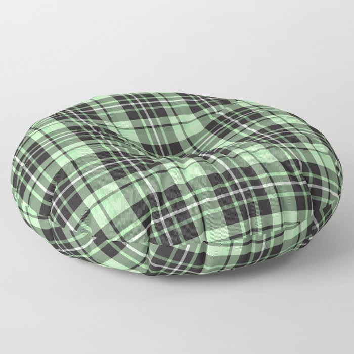 Mint-Green Plaid floor pillow