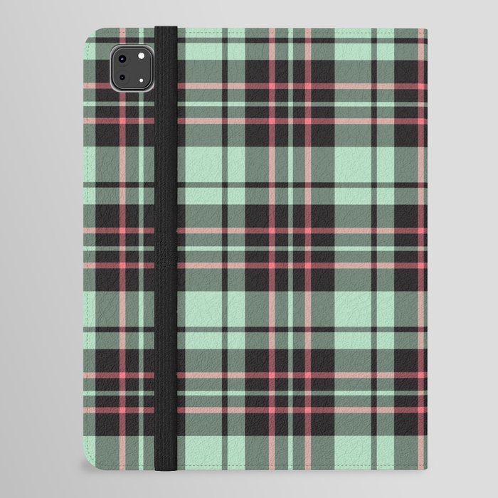 Mint-Strawberry Plaid ipad case