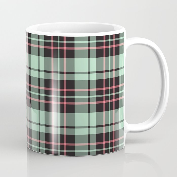 Mint-Strawberry Plaid mug