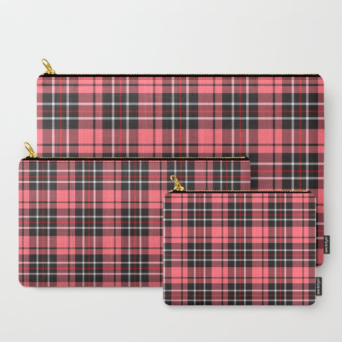 Strawberry plaid pouch