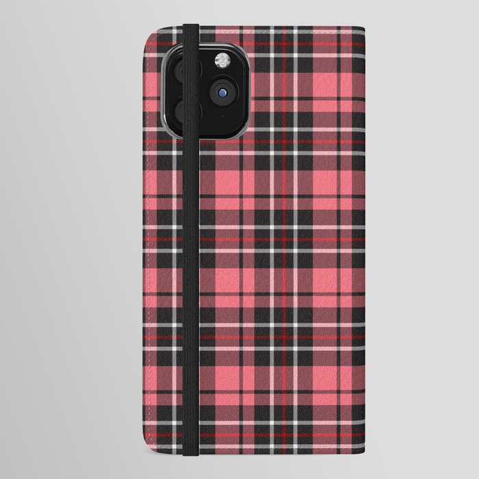 Strawberry plaid iphone wallet