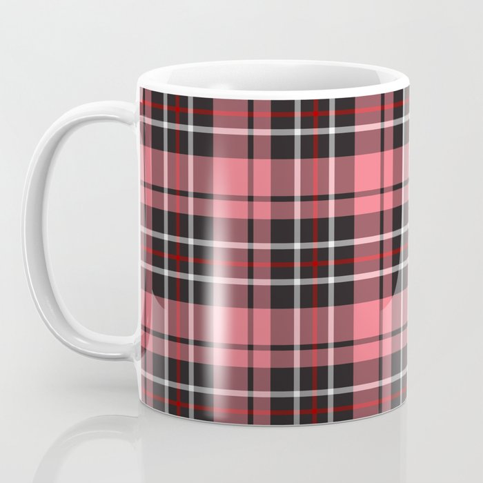 Strawberry plaid mug