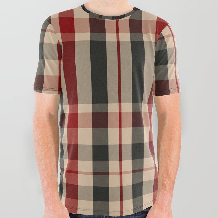 union jack tartan plaid t-shirt