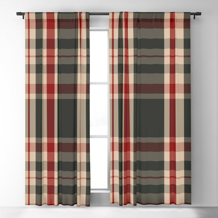 union jack tartan plaid curtains atomic geisha
