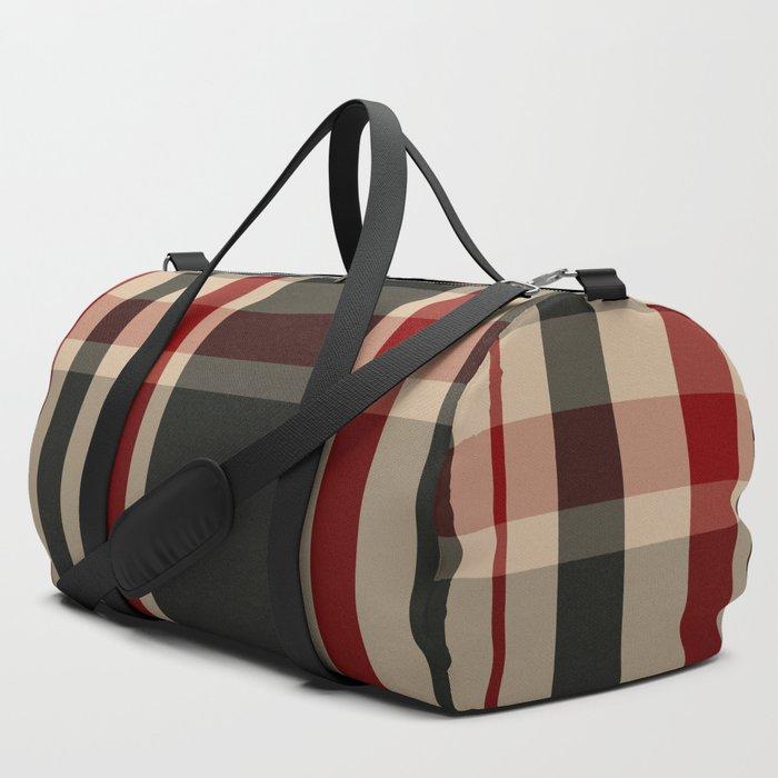 union jack tartan plaid duffle bag travel