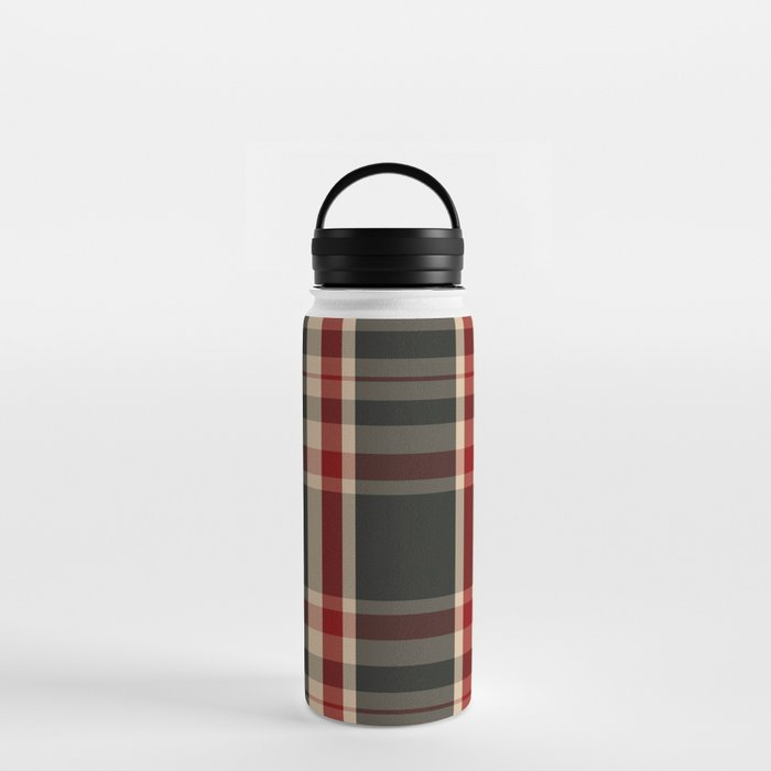 union jack tartan plaid water bottle