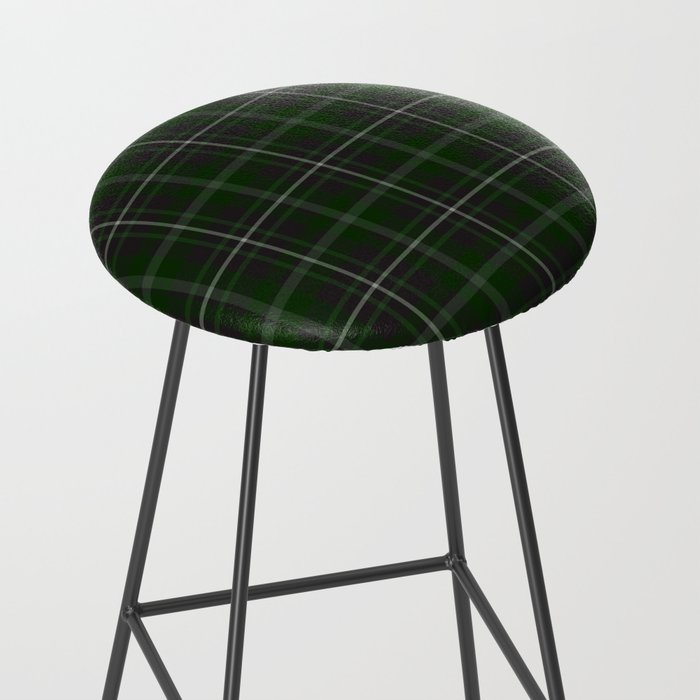 green plaid bar stool