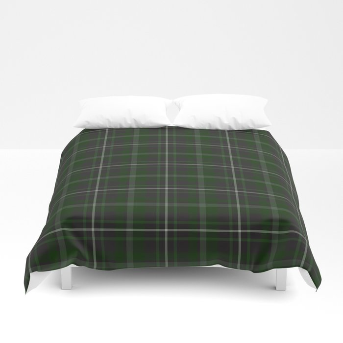 green plaid bed duvet sheets
