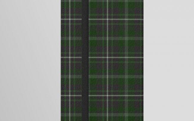 green plaid phone cover