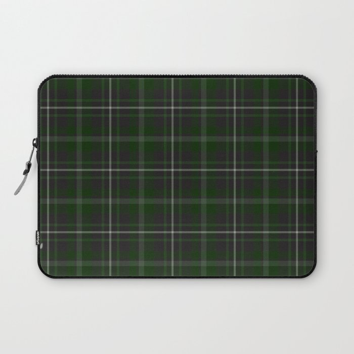 green plaid laptop sleeve