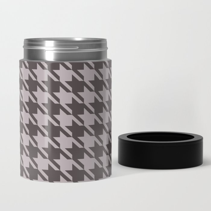gray houndstooth can cooler