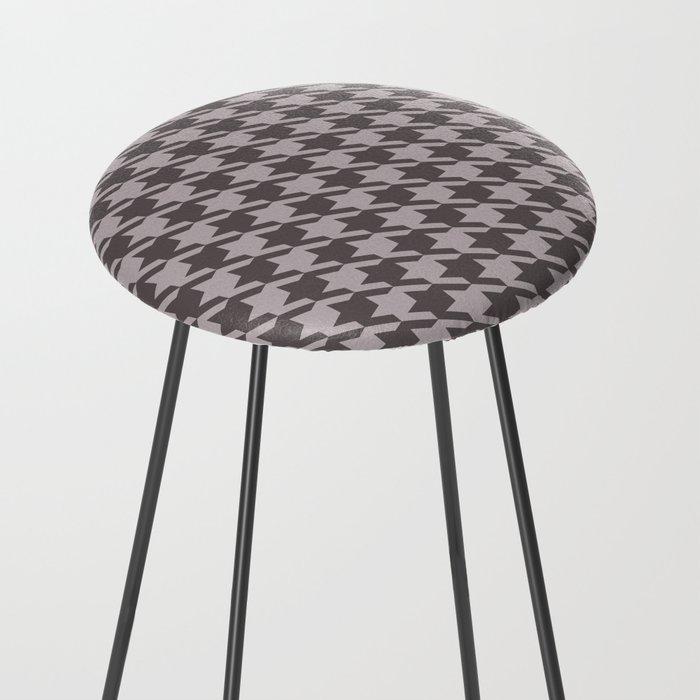 gray houndstooth bar stool