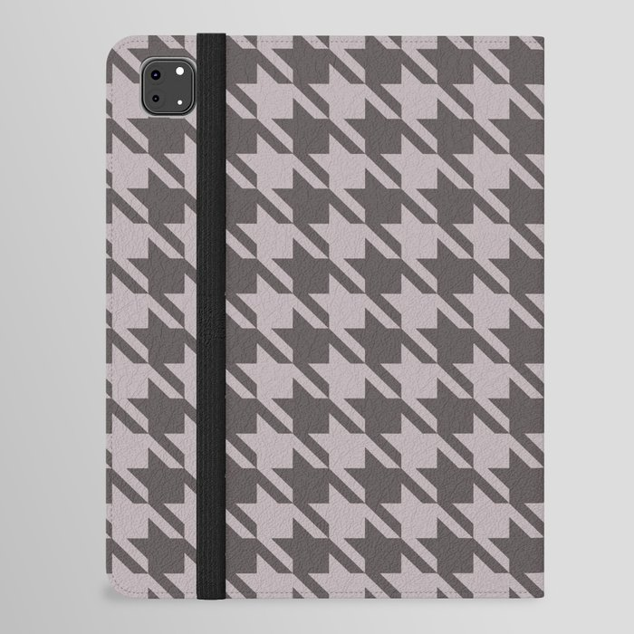 gray houndstooth ipad case cover