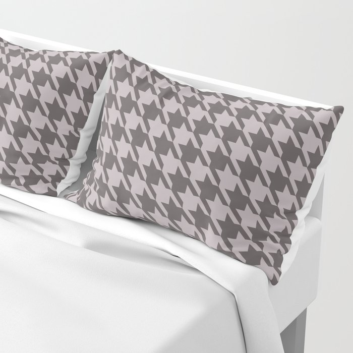 gray houndstooth pillow