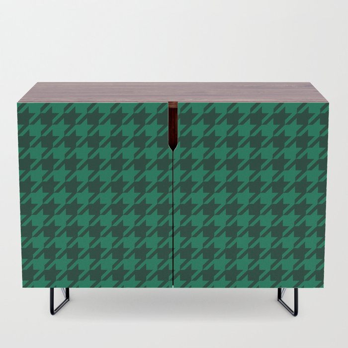green houndstooth sideboard