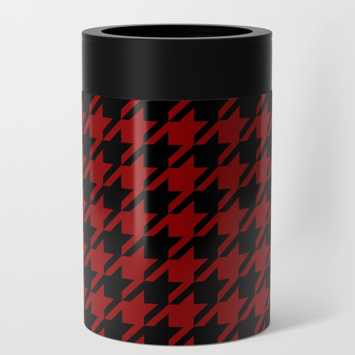 red black houndstooth can cooler