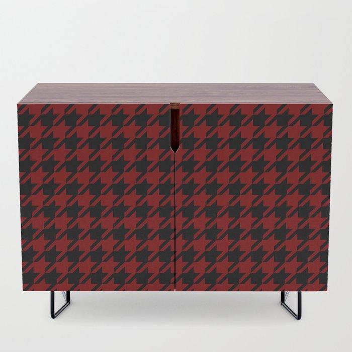 red black houndstooth sideboard