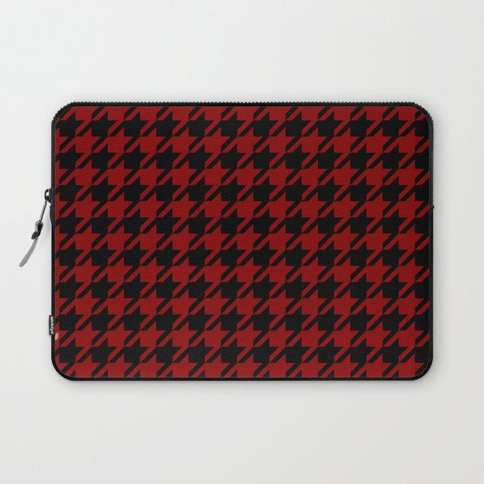 red black houndstooth laptop sleeve