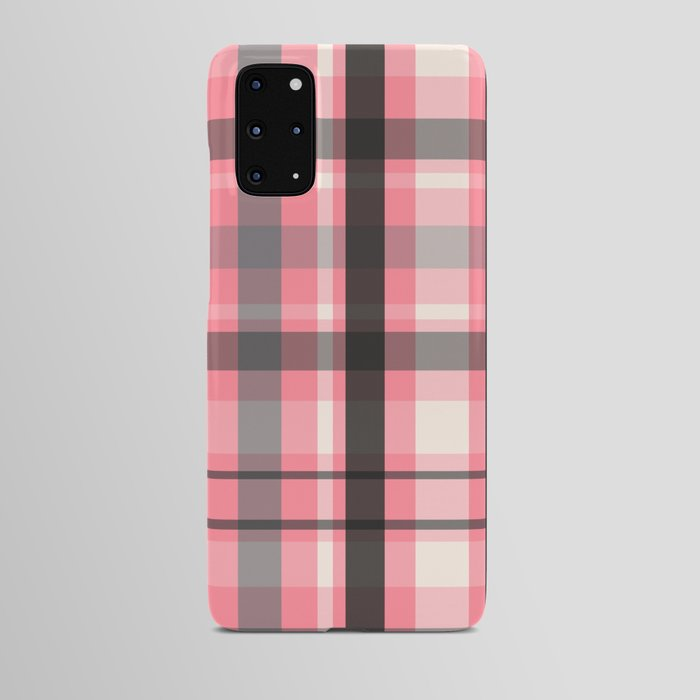 pink grey plaid phone case samsung android