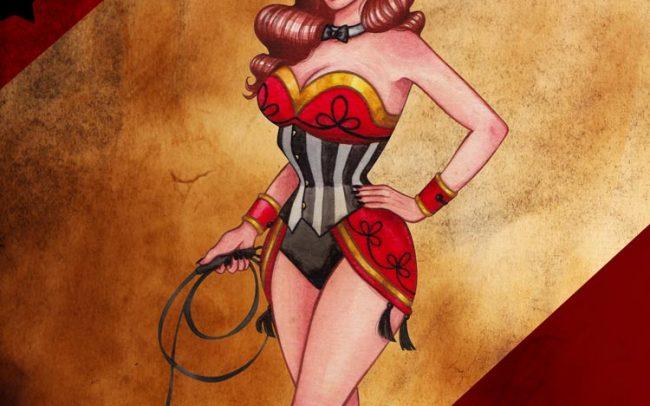 ringmaster lady art illustration watercolor