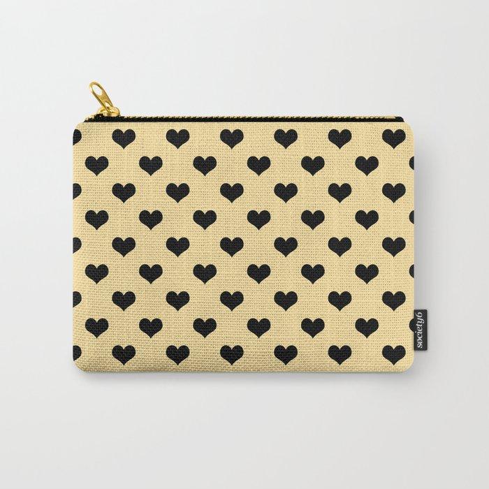 Black hearts cream bag pouche purse