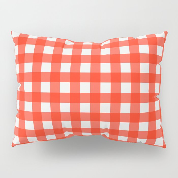 red and white gingham shams