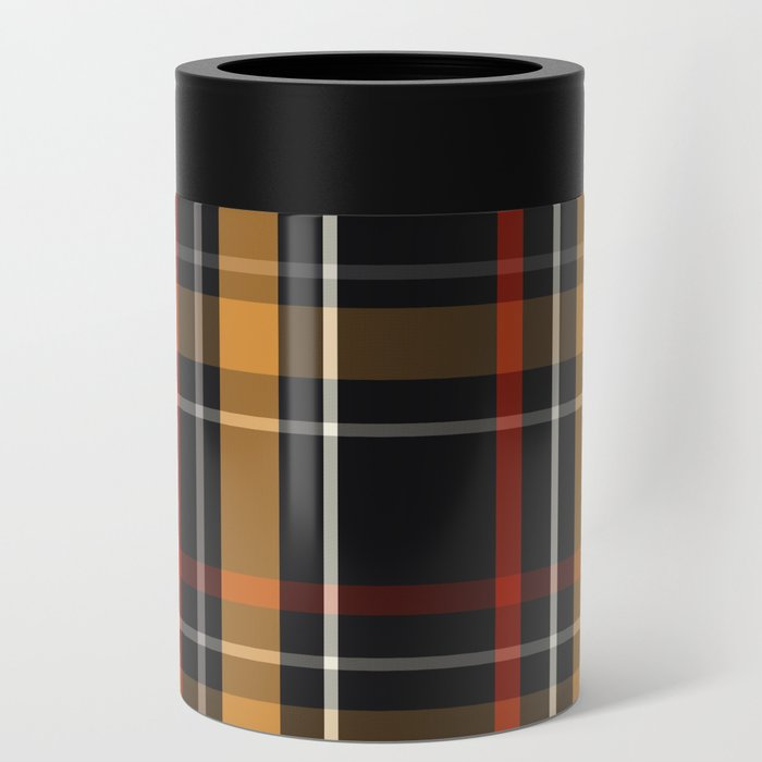 Grey Beige Red Plaid Tartan
