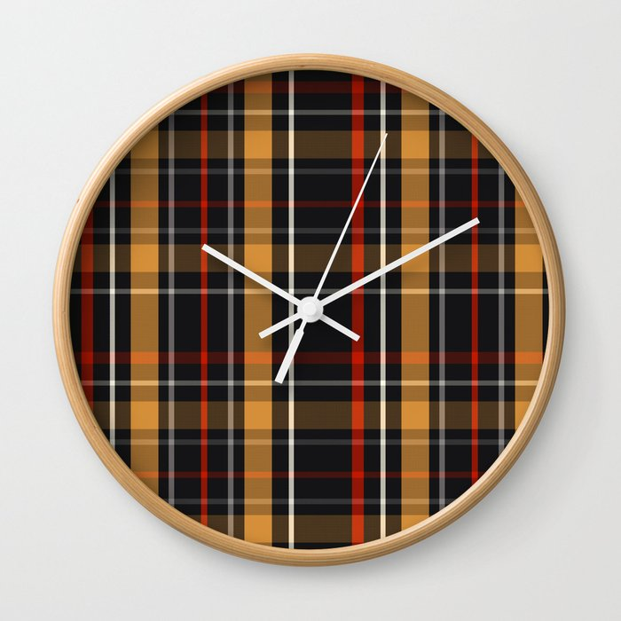 clock plaid