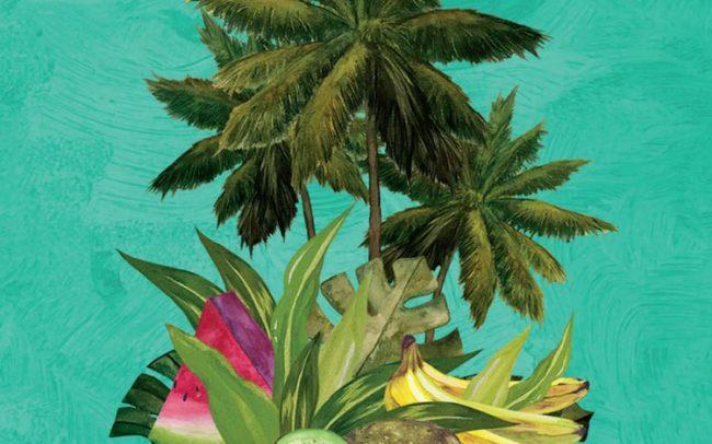 oasis plamtrees atomic geisha watercolor
