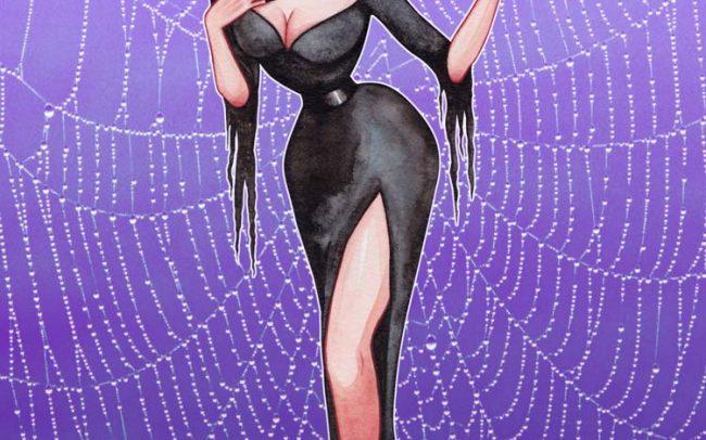 Vampira spiderweb watercolor atimic geisha monster