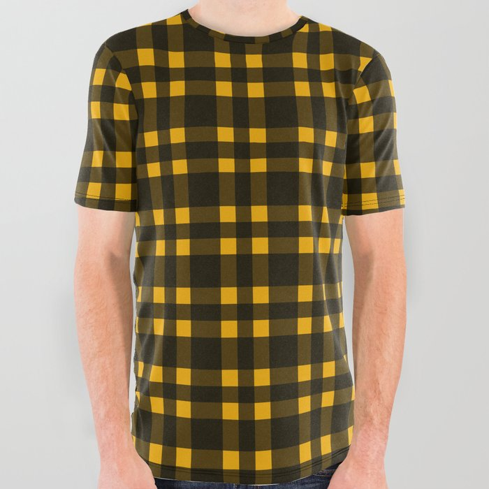 Black mustard plaid shirt
