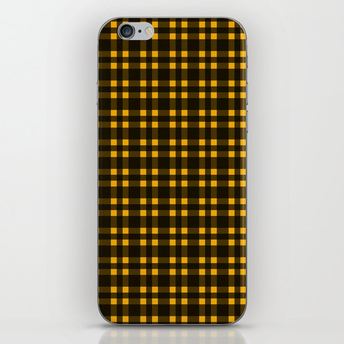 Black mustard plaid phone case