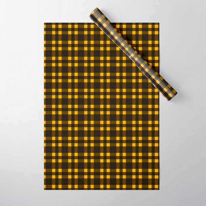 Black mustard plaid warring paper