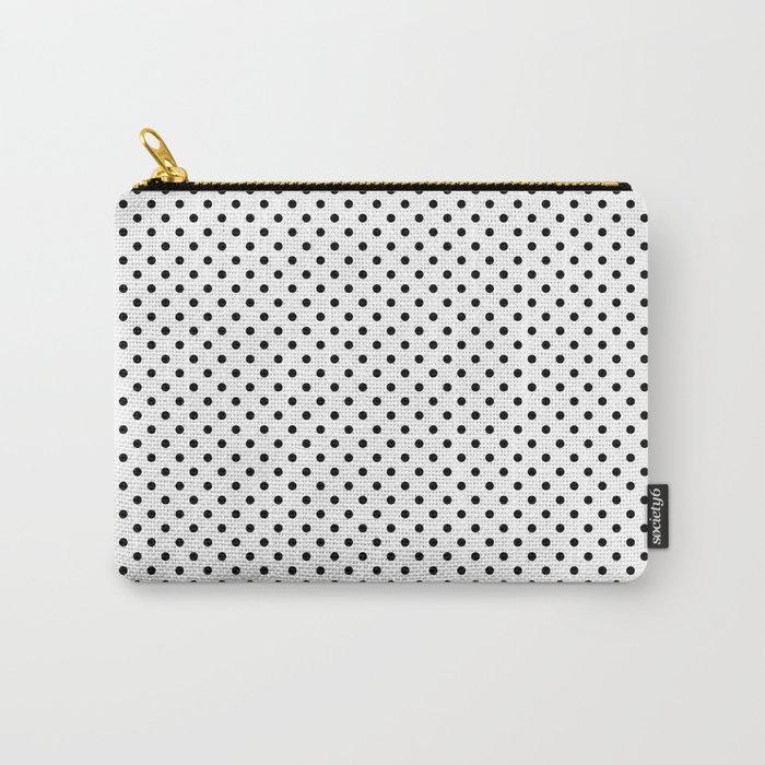 black white polkadots pouche bag