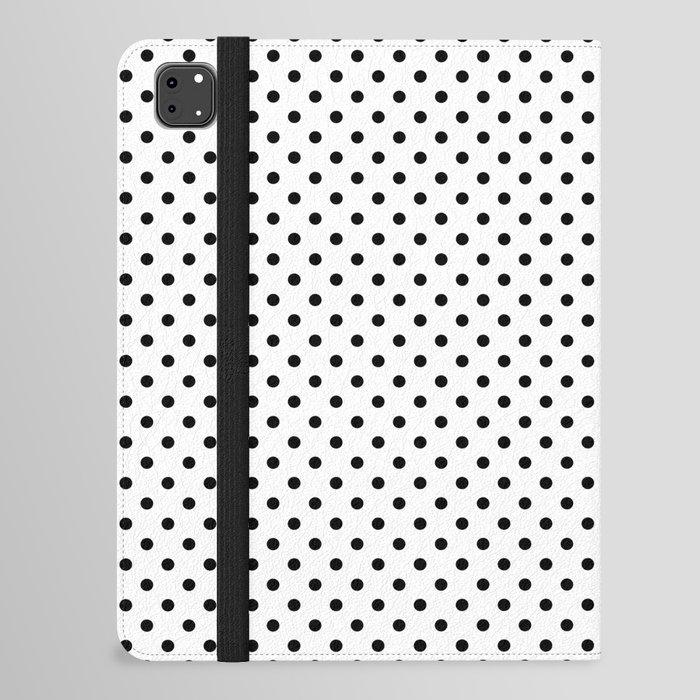 black white polkadots ipad case