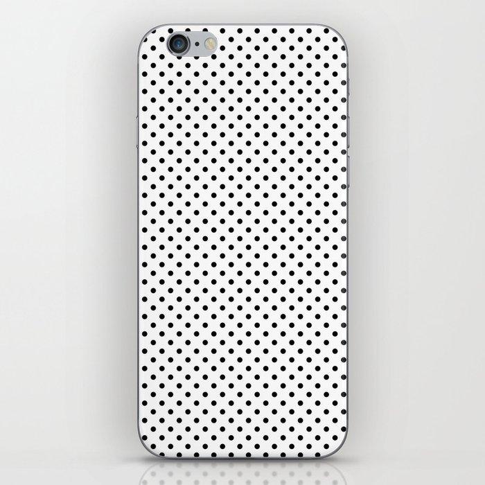 black white polkadots phone case