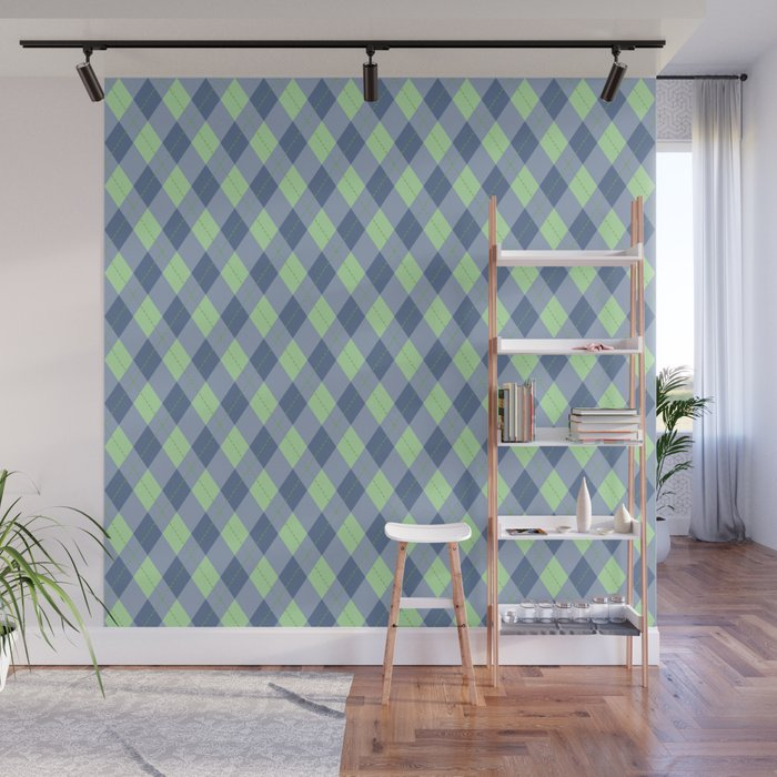 Blue Green Argyle