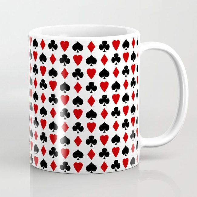 clubs diamonds hearts spades mug