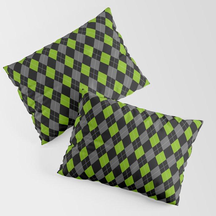 Green Grey Black Argyle Pattern