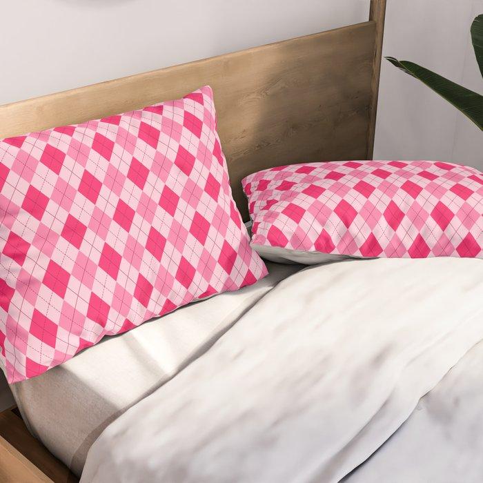 Pink Argyle Pattern