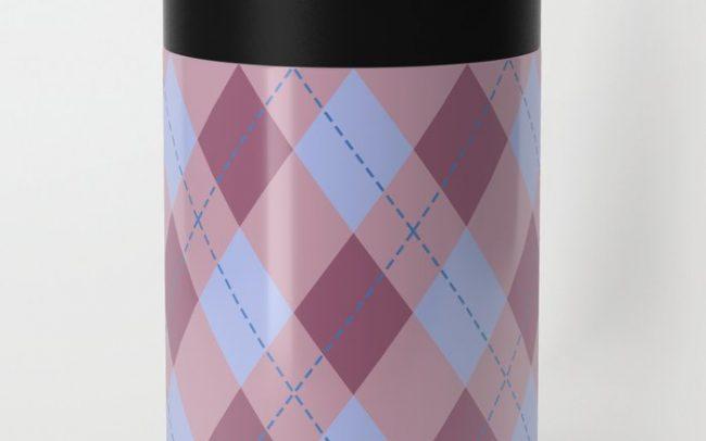 Purple lilac mink argyle pattern