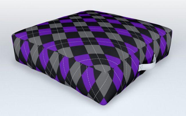 Purple grey black argyle